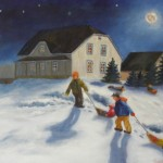Noël sous la pleine lune, 16x20