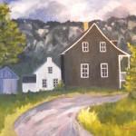 Maison du rang du petit village, 25x31